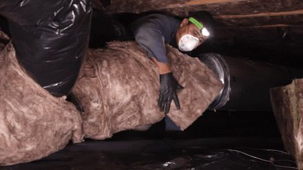 Replace Old Dirty and Wet Crawl Space Insulation With New In Olympia